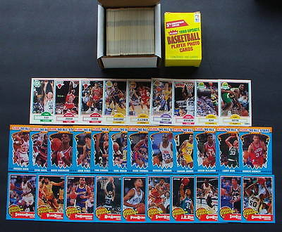 1990-91 FLEER BASKETBALL SET + UPDATE SET + ROOKIE SENSATIONS SET + ALL-STAR SET