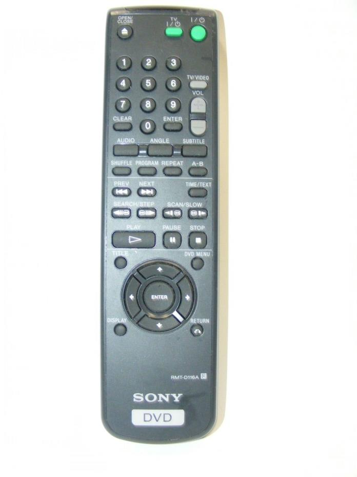 SonyCWM450 DCVPS360 DVP5360 DVPD116A DVD Remote Control RMT-D116A