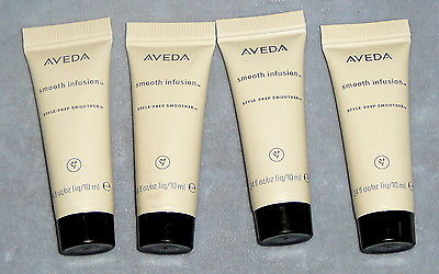 4 Aveda Smooth Infusion Style-Prep Hair Smoother 10 ML .34 Oz travel size jl