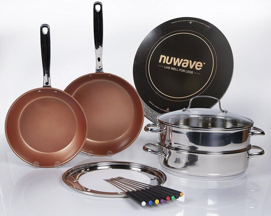 NuWave Precision Induction Cooktop with Cookware complete Set  NEW