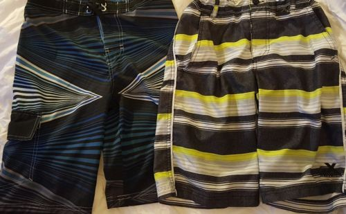 Two boys swim shorts swimsuit.  Size 10-12.  Ocean Pacific + Free Shipping!!