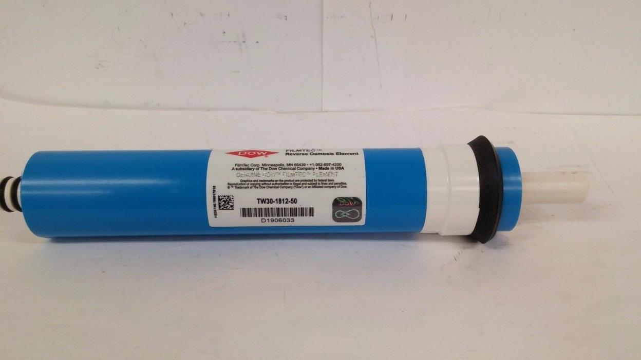 New Dow Filmtec, TW30-1812-50, Reverse Osmosis Water Filter Element, USA, F/S