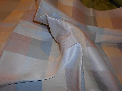 SCALAMANDRE Pastel Plaid Linen Viscose Upholstery Fabric 34