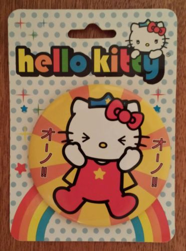 NEW RARE 2007 SANRIO LOUNGEFLY JAPAN SUPERHERO HELLO KITTY BUTTON PIN 3
