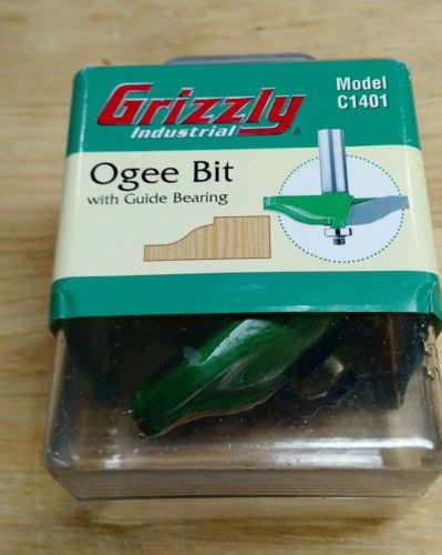 GRIZZLY C1401 Ogee Panel Carbide 1/2 Router Bit with guide bearing NIB Sealed