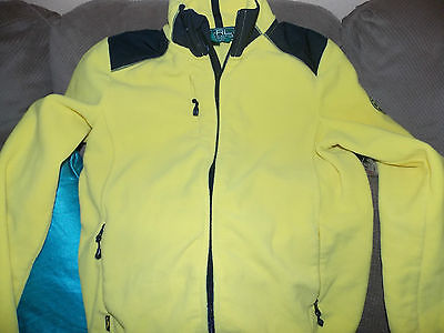 Polo Ralph lauren youth Yellow/black Active wear L/S Fleece Top ,Size Large