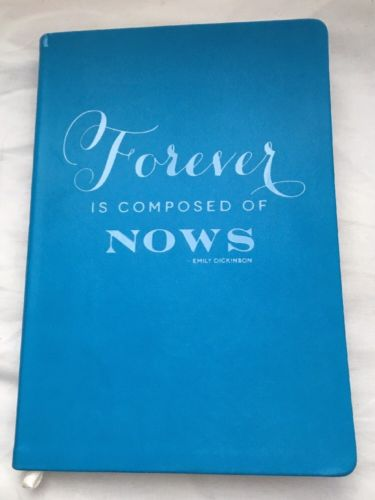 Eccolo blank journal Forever is Composed of Nows leather-like wedding