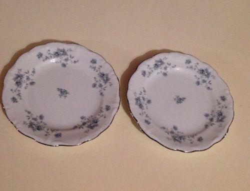 Johann Haviland Blue Garland 2 Small Plates  Bavaria Germany.