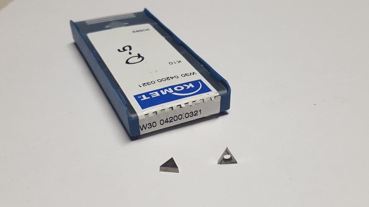 (Lot of 5) KOMET W30 04200.0321 K10 Carbide Inserts