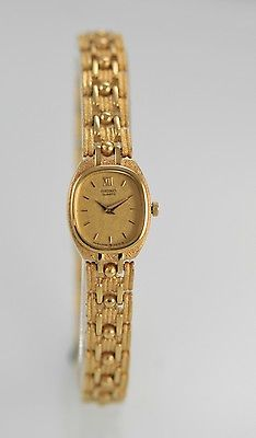 Seiko Women's Gold Stainless Steel Braclet Easy Read WR Quartz Battery Watch