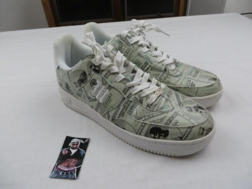 Used Makaveli Tupac Shakur Cash Money Dollar Bill Swag Shoes Sz 12