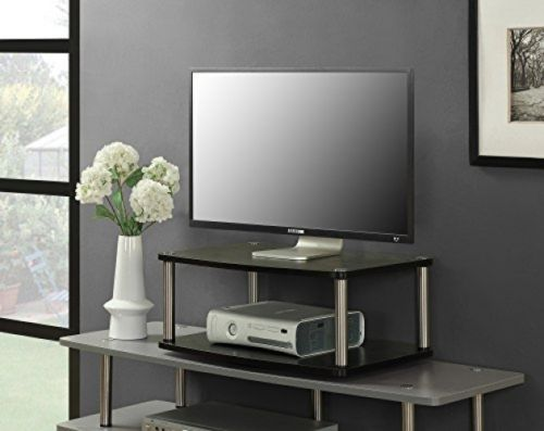 Swivel TV Stand Flat Screen LCD Small 2 Tier 360 Degree Rotation - FREE Shipping