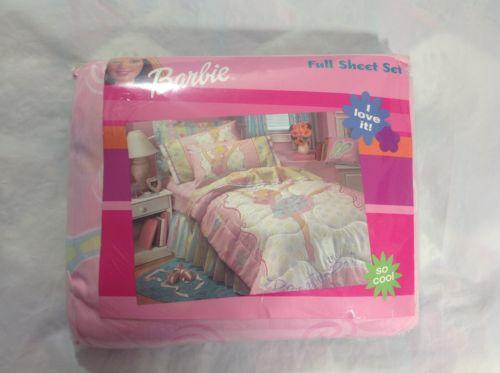 BARBIE Dreamtime Ballerina Full Sheet Set-Full Flat, Full Fitted, 2 Pillowcases