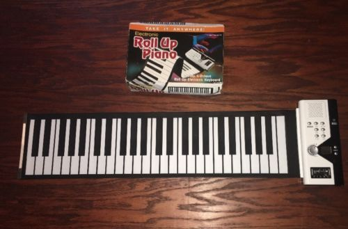 Roll Up Electronic Keyboard Piano 49 Keys 4 Octave Travel Flexible W/ Box