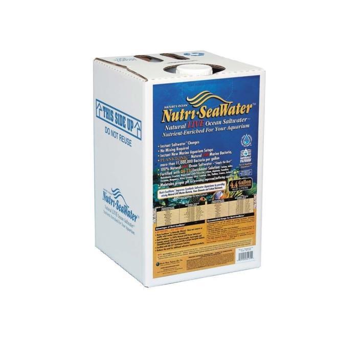 Nutri-Seawater Natural LIVE Ocean Saltwater 4.4gal Aquarium Salt Instant Fish