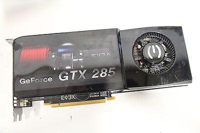 EVGA GEFORCE GTX 285 1GB GDDR3 DUAL DVI-I S-VIDEO PCIE VIDEO CARD 01G-P3-1180-AR
