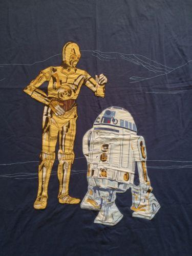 Pottery Barn Kids Star Wars R2D2 C-3PO Duvet Cover Full Queen Blanket Quilt