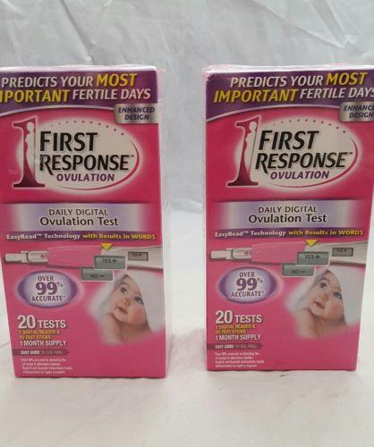 First response ovulation test lot 2 box new