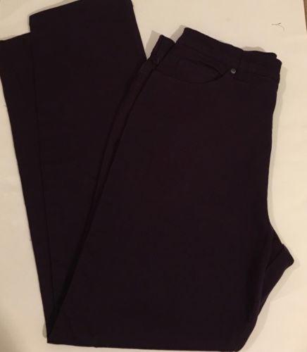Basic Edition Classic Fit Purple Stretch Denim Pants Size 14