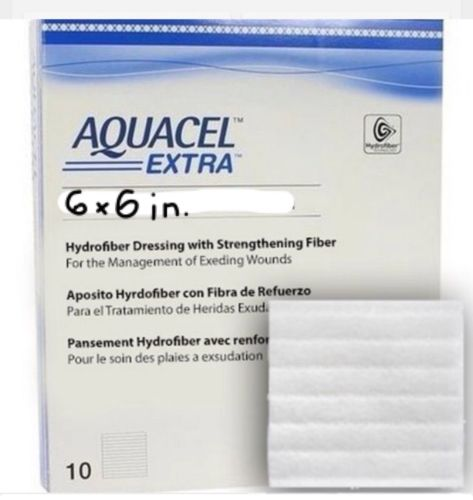 Aquacel Extra Hydrofiber dressing 6x6. Unopened box of 5. Expires 01/22.