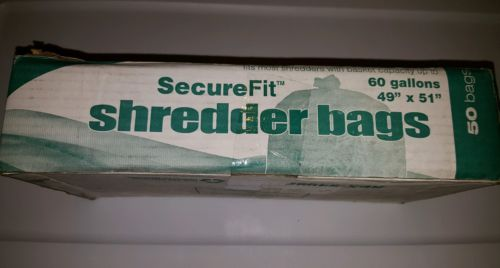 Securefit Shredder Waste Bags 60 Gallon 49