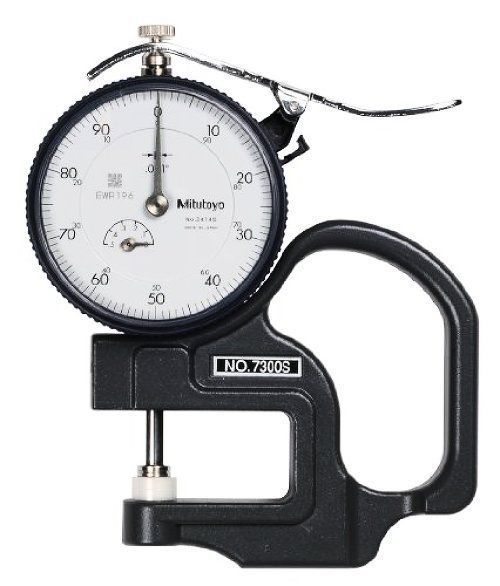 NEW Mitutoyo 7300S Dial Thickness Gage, 0-0.5'' Range, 0.001'' Graduation
