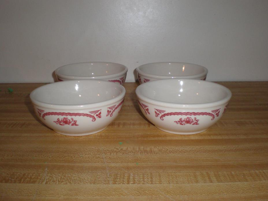 Lot Of 4 Homer Laughlin Chardon Rose Restaurant Ware Best China 5