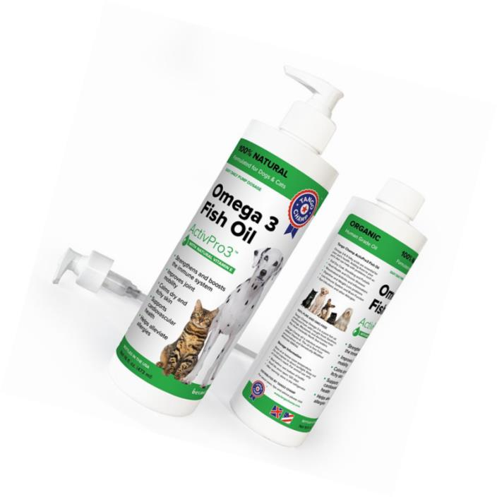 SPECIAL RELAUNCH PRICE - PURE OMEGA 3 FISH OIL for Dogs and Cats with VITAMIN-E