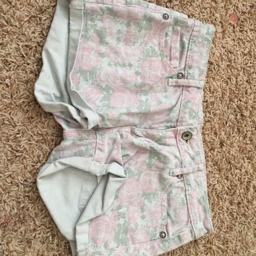 BULLHEAD Junior Jean Shorts Floral O36 Summer Pink