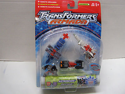 2002 TRANSFORMERS ARMADA 3PACK FIGURE SET with ASTROSCOPE, PAYLOAD AND SKY BLAST