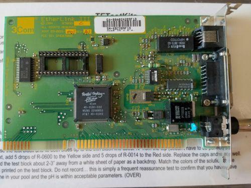 3Com 03-0021-001 Etherlink III ISA Network Card BNC, RJ-45, D-Sub 15-Pin Rev. A1