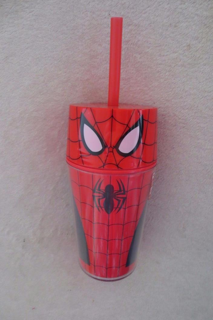 Spiderman Boy Toddler Cup with Straw Child Safety BPA Free New