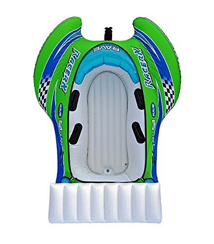 2-Rider Towable Inflatable Water Tube Equipment Safe Summer Holiday Sea Lake Ski