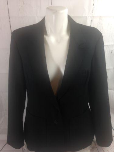 Motion Jacket JcPenny Women Black Button Up  Blazer L Bin 22 # 5