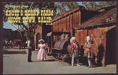 Borax Mine Engine Train Old Betsy Knott's Berry Farm Buena Railroad Postcard