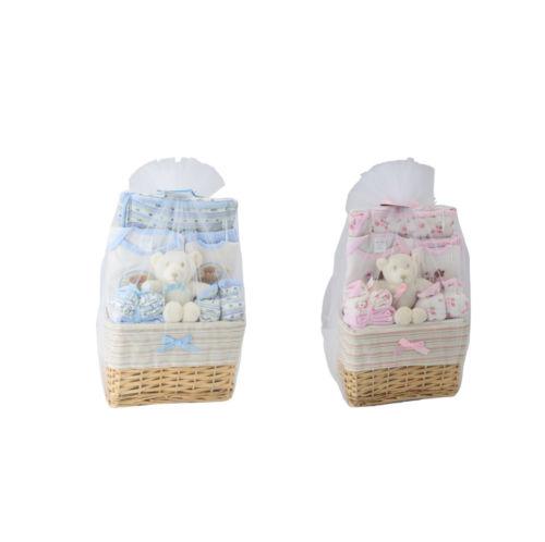 Big Oshi Baby Essentials 10 Piece Layette Basket Gift Set