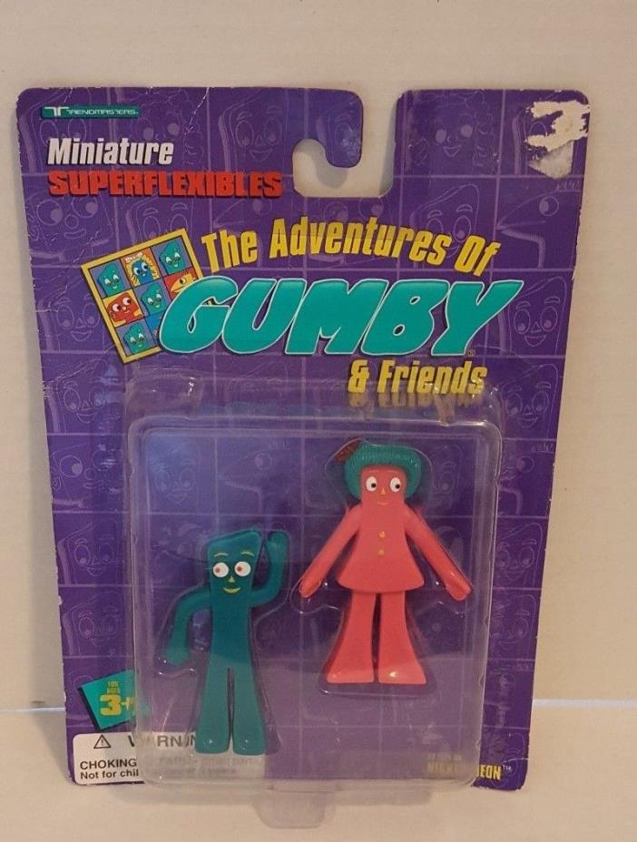 Adventures Of Gumby and Friends Miniature Superflexibles 1996 Gumby & Minga