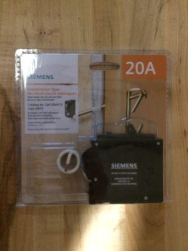 Siemens QA120AFCP 20-Amp 1-Pole Combination Arc Fault Circuit Breaker, New!