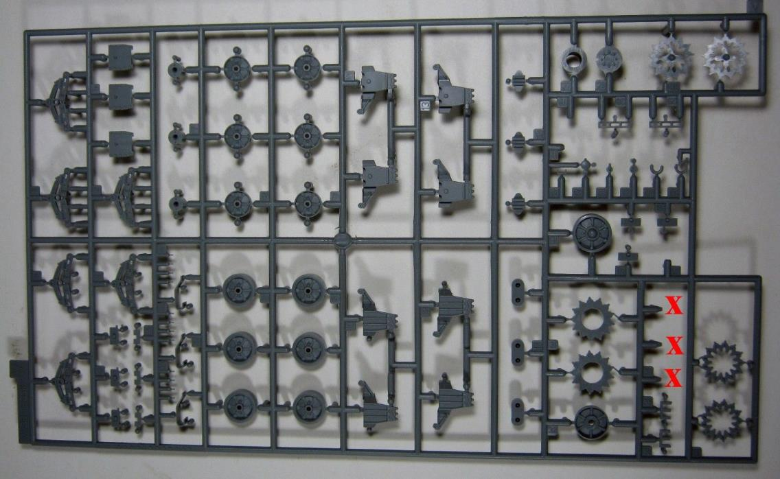 DRAGON  1/35 USMC M4A2(W) Late Production PTO #6462  ONE RUNNING GEAR SPRUE ONLY