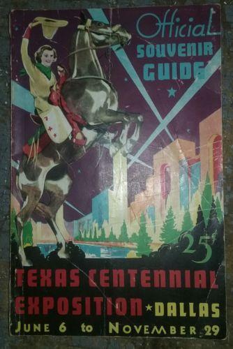1936 Texas Centennial Exposition Official Souvenir Guide  SHIPS FREE