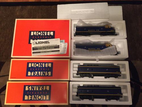 Lionel Santa Fe 6-18117 F3 AA Set, 6-18121 and 6-18121