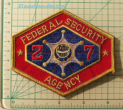Fedral Security Agency Patch