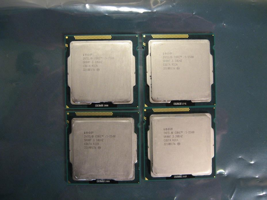 4x Intel Core i5-2500 3.3GHz Quad-Core Desktop Processors SR00T