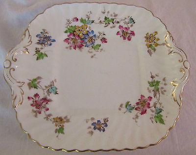 Mintons Vermont Square Cake Plate Handles 9 7/8