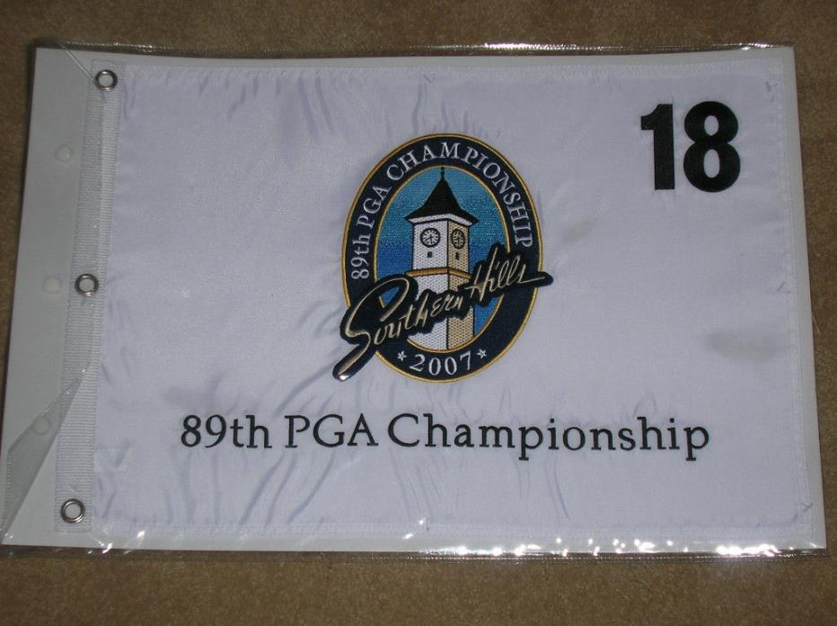 89th PGA GOLF CHAMPIONSHIP FLAG SOUTHERN HILLS CC 2007 NEW