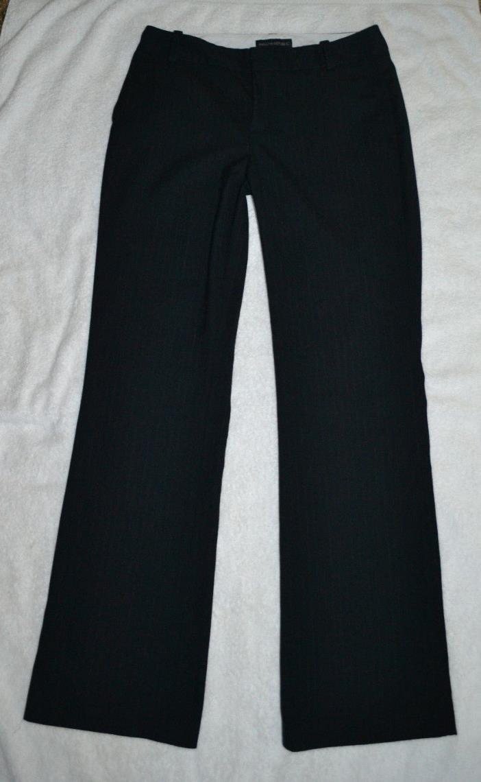 Banana Republic Black Pin Striped Winter Trousers Dress Pants Sz 4