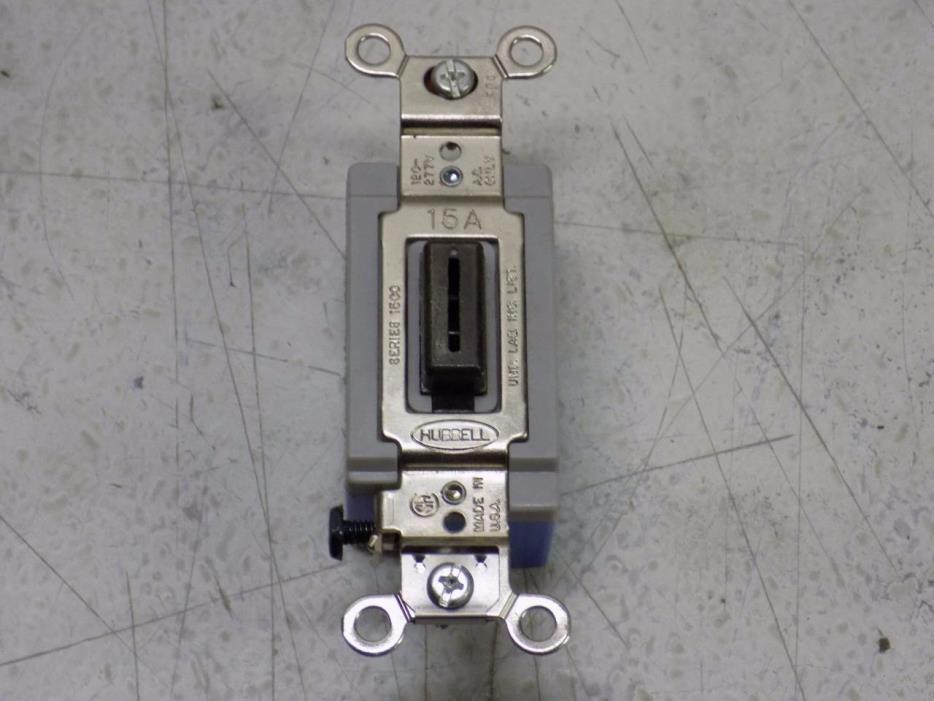 Wall Switch, Hubbell Wiring Device-Kellems, HBL1556L 15 AMP 120-277 VAC