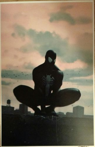 JEFF DEKAL SPIDER-MAN ART PRINT SIGNED POSTER MARVEL COMICS VENOM SYMBIOTE BLACK