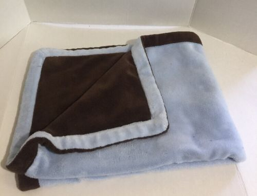 George Blue & Brown Thick Polyester Plush reversible Baby Blanket Lovey