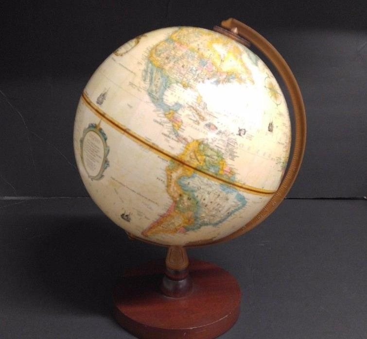 Vintage World  Classic Replogle 9 inch diameter globe